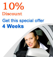 10 percent discount car hire in Malaga for 4 weeks