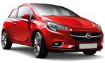 B Opel Corsa 3 doors, Ford Fiesta 3 doors, Fiat Panda 5 doors for hire at Malaga airport