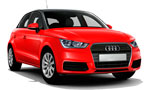L Audi A1 for hire at Malaga airport