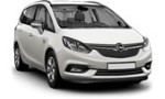 PC Opel Zafira 7p for hire at Malaga airport