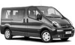 PL Nissan Primastar 9 seater, Opel Vivaro 9 seater for hire at Malaga airport