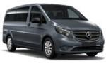 PU Mercedes Vito 9p for hire at Malaga airport