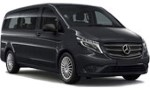 PV Mercedes Vito 9p Auto for hire at Malaga airport