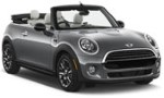 SF Mini Cooper cabrio automatic for hire at Malaga airport